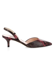 SJP Bliss Snake-Embossed Leather Slingback Pumps