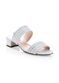 SJP Bloom Glitter Slide Sandals
