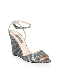 SJP Boca Glitter Wedge Sandals