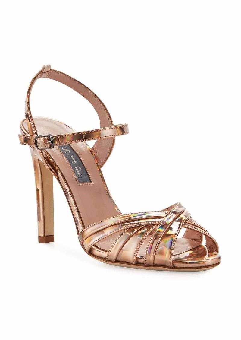 SJP Cadence Hologram High-Heel Leather Sandals