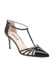 SJP Carrie T-Strap Leather Pumps