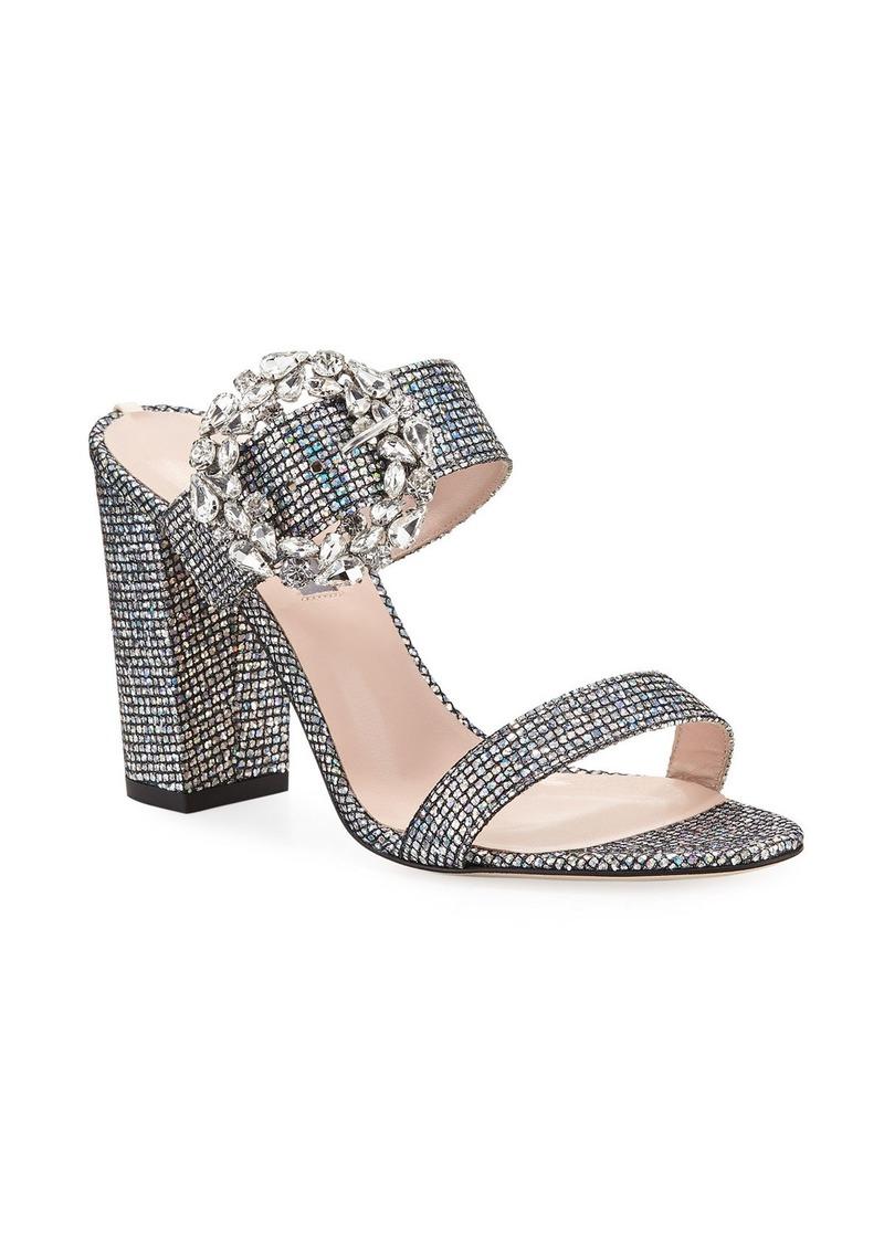 SJP Celia Embellished Sparkle Slide Sandals