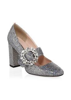 SJP Celine Glitter Mary-Jane Heels