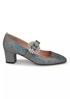 SJP Cosette Glittered Block Heel Pumps