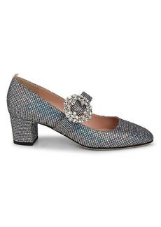 SJP Cosette Glittered Block Heel Pumps