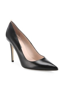SJP Fawn Leather Point Toe Pumps