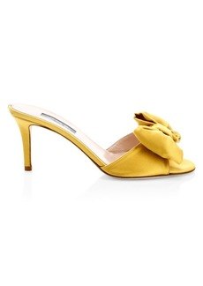 SJP Finley Satin Bow Mules