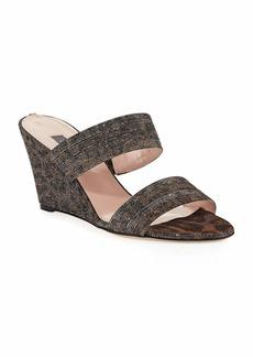 SJP Fleur Leopard Sparkle Sandals