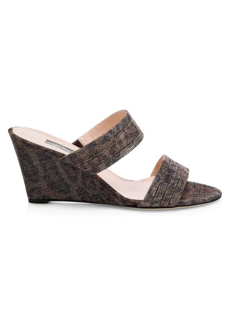 SJP Fleur Woven Wedge Mule Sandals