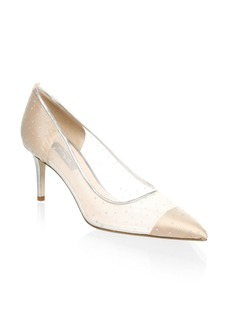 SJP Glass Suede Pumps