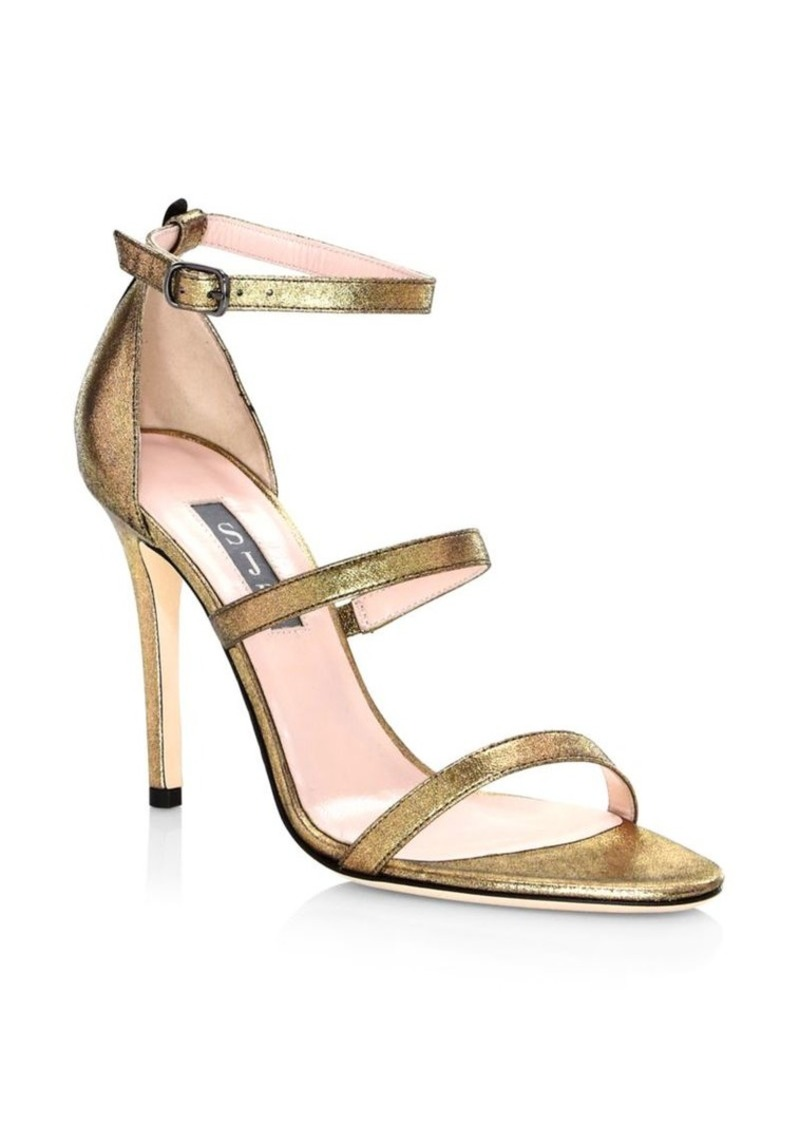 SJP Halo Strappy Stiletto Heels