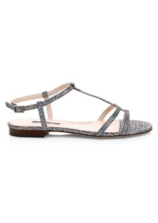 SJP Honoree Crystal Embellished Gladiator Sandals