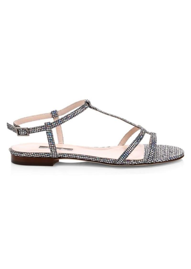 SJP Honoree Crystal Embellished Gladiator Sandals