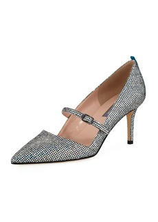 SJP Nirvana Iridescent 70mm Pumps  Silver
