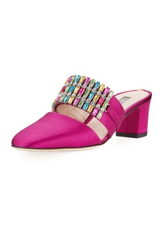 SJP Pan Embellished Satin Mule