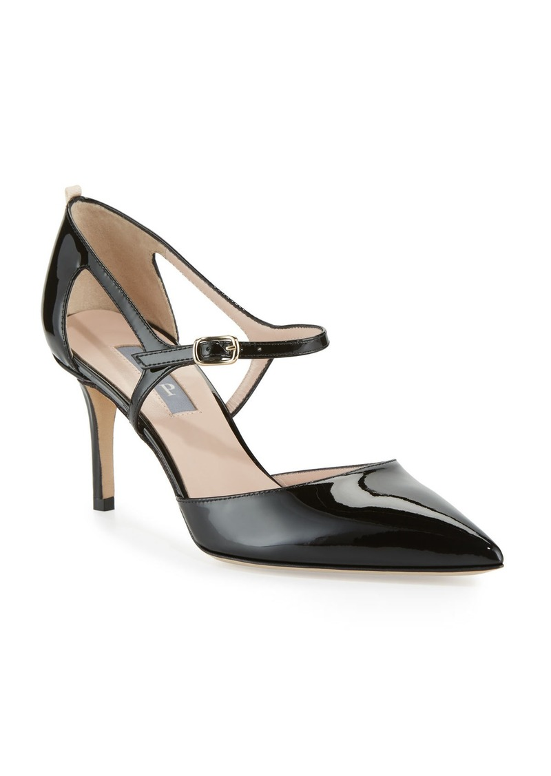 SJP Phoebe Patent Mary Jane Pumps  Black