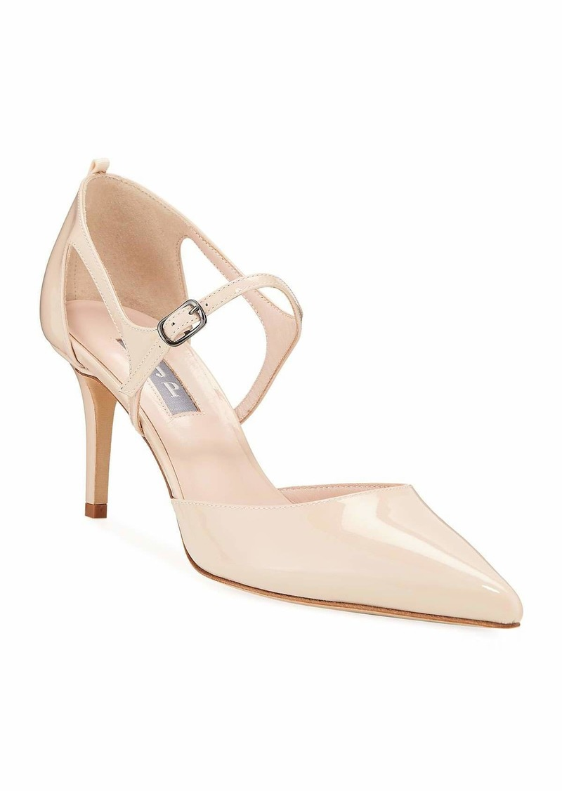 SJP Phoebe Patent Pointed Pumps