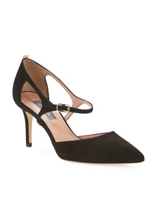 SJP Phoebe Suede Buckle Pumps  Black