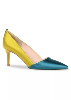 SJP Rampling Colorblock Satin Pumps