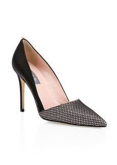 SJP Rampling Satin Point Toe Pumps