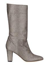 SJP Reign Glitter Mesh Block-Heel Boots