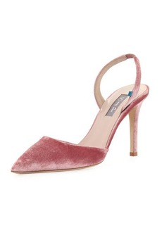 SJP by Sarah Jessica Parker Bliss Velvet 90mm Slingback Pump