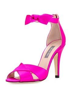 SJP by Sarah Jessica Parker Buckingham Satin Ankle-Tie Sandal