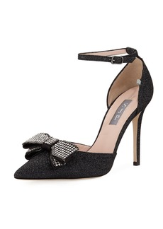 SJP by Sarah Jessica Parker Encore Glitter Pump with Crystal Bow
