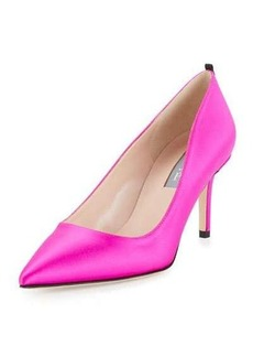 SJP by Sarah Jessica Parker Fawn Satin Pointed-Toe 70mm Pump
