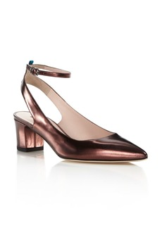 SJP by Sarah Jessica Parker Maya Metallic Leather Ankle Strap Pumps - 100% Exclusive