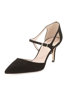 SJP Phoebe Suede Buckle Pumps