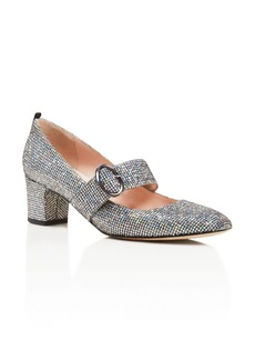SJP by Sarah Jessica Parker Tartt Metallic Mary Jane Mid Heel Pumps
