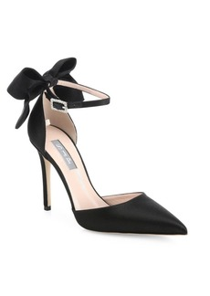 SJP Trance Satin Point Toe Bow Pumps