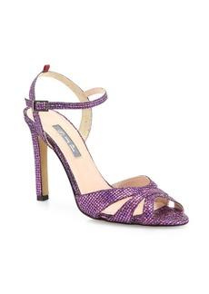 SJP by Sarah Jessica Parker Westminster Glitter Ankle-Strap Sandals