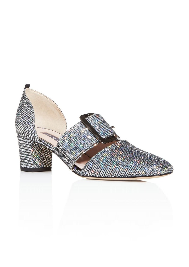 SJP by Sarah Jessica Parker Women's Anahita Glitter Square-Toe Pumps
