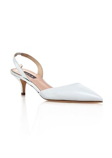 SJP by Sarah Jessica Parker Women's Bliss Slingback Kitten-Heel Pumps