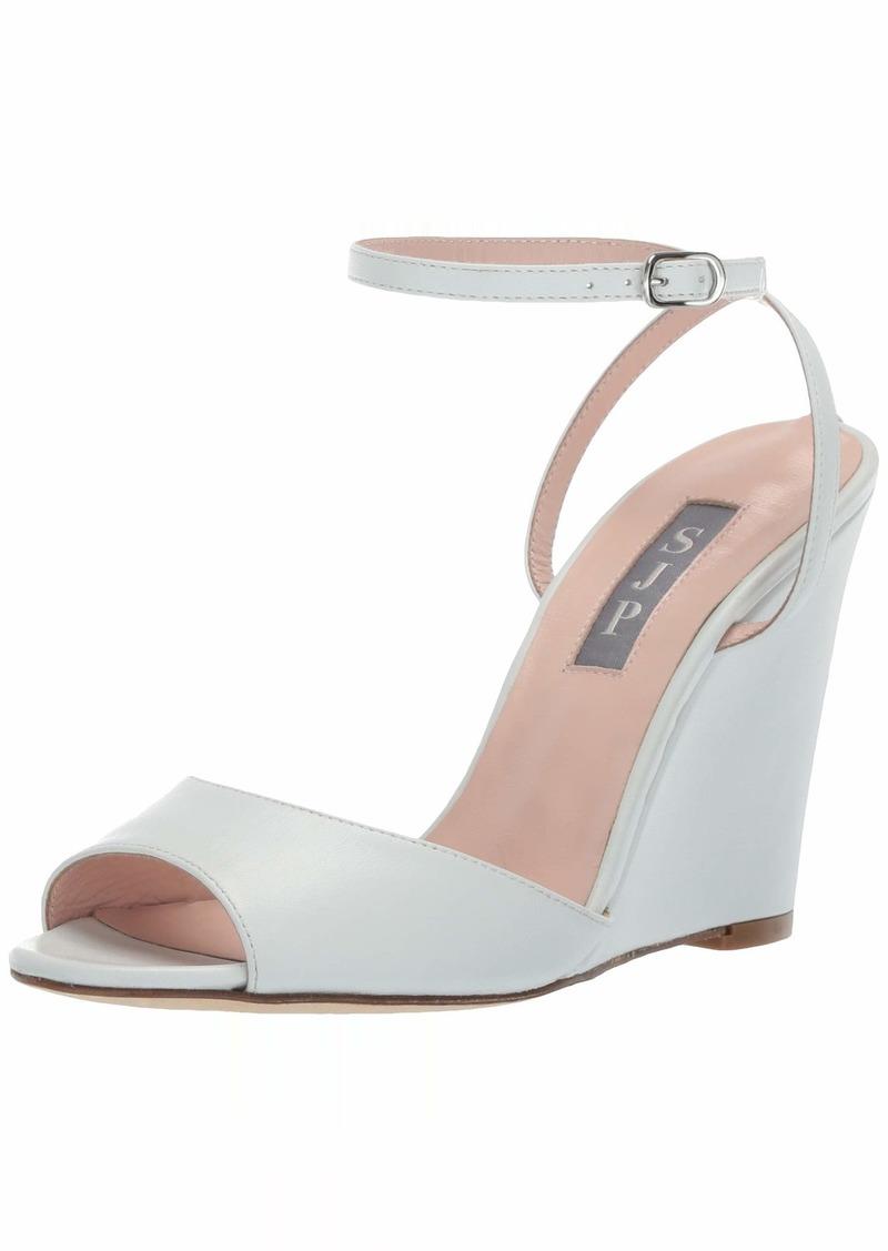 SJP by Sarah Jessica Parker Women's Boca Wedge Ankle Strap Sandal  3.5 M EU ( US)
