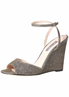 SJP by Sarah Jessica Parker Women's Boca Wedge Ankle Strap Sandal  3.5 Medium EU ( US)