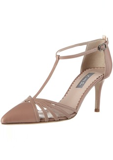 SJP by Sarah Jessica Parker Women's Carrie 70 Closed Toe T-Strap Ankle Pump  36 EU/ M US