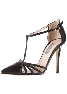 SJP by Sarah Jessica Parker Women's Carrie Closed Toe T-Strap Ankle Pump  36 EU/ M US