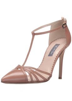 SJP by Sarah Jessica Parker Women's Carrie Closed Toe T-Strap Ankle Pump  38 EU/ M US