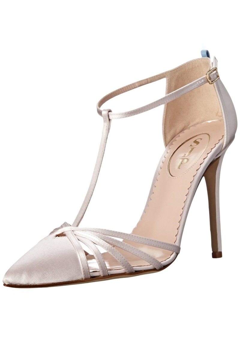 SJP by Sarah Jessica Parker Women's Carrie Closed Toe T-Strap Ankle Pump  40.5 B EU (10 US)