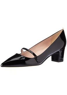 SJP by Sarah Jessica Parker Women's Dame Pointed Toe Block Heel Pump  37 EU/ B US