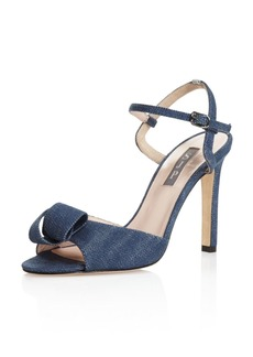 SJP by Sarah Jessica Parker Women's Ferry Denim High-Heel Ankle Strap Sandals - 100% Exclusive