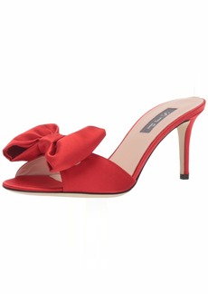 SJP by Sarah Jessica Parker Women's Finley Heeled Sandal red Satin  (9 US)
