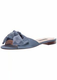 SJP by Sarah Jessica Parker Women's Finn Bow Flat Slide Sandal  37 M EU ( US)