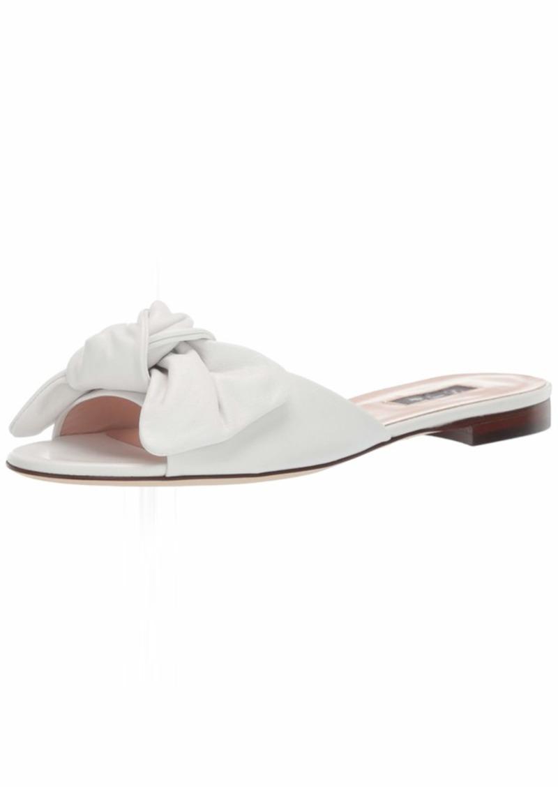 SJP by Sarah Jessica Parker Women's Finn Bow Flat Slide Sandal  3.5 M EU ( US)