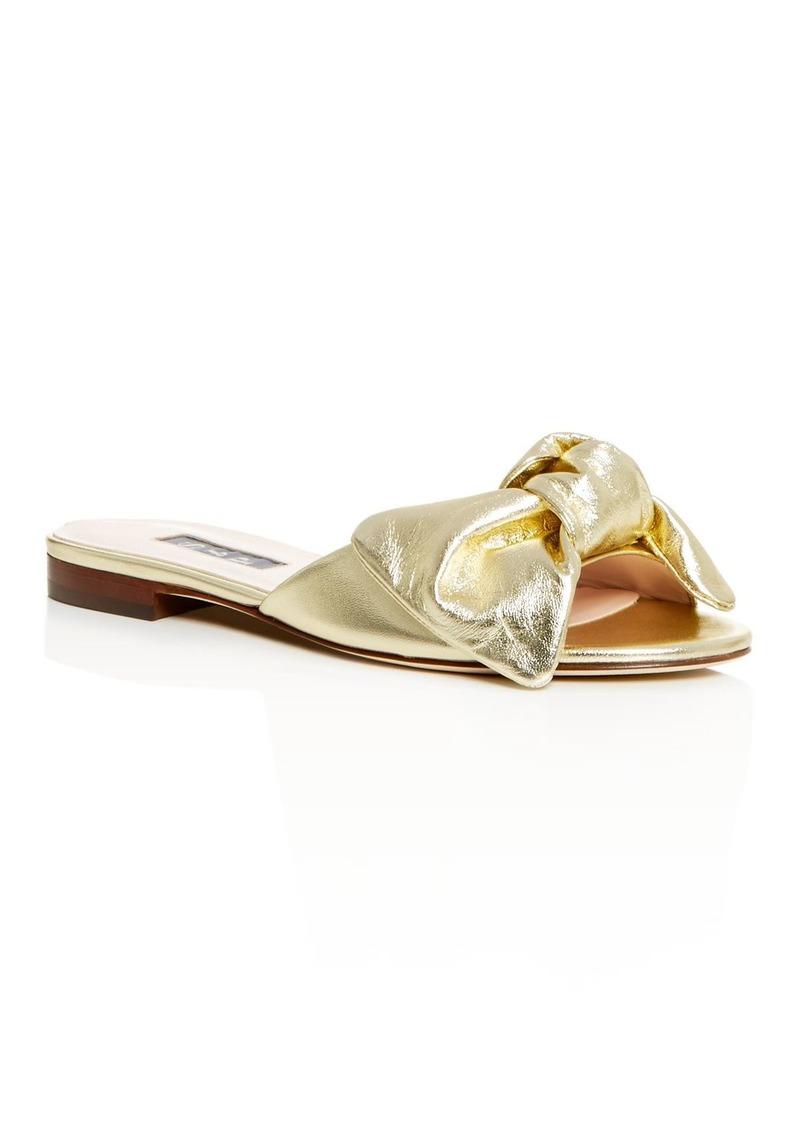 SJP by Sarah Jessica Parker Women's Finn Bow Slide Sandals