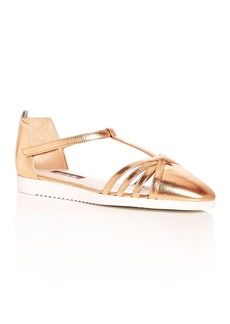 SJP by Sarah Jessica Parker Women's Meteor Leather T-Strap Flats - 100% Exclusive