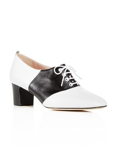SJP by Sarah Jessica Parker Women's Olivia Leather Block-Heel Oxfords